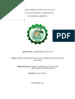 Distribución de agua potable distrito de azangaro