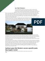 Arsitektur Bali Dan Bali Modern