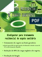 Tratamento Residencial de Esgoto Sanitário