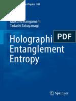 (Lecture Notes in Physics 931) Mukund Rangamani, Tadashi Takayanagi (Auth.)-Holographic Entanglement Entropy-Springer International Publishing (2017)