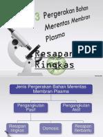 Pergerakan Bahan Merentas Membran Plasma Bab 3 Bio