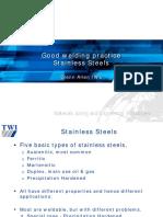 2 Good Welding Practices for Stainless Steel - Glenn Allen - TWI