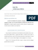 Introducere in didactia specialitatii