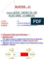 13 Magnetic Effects of Electric Current