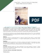 TECNOLOGIA TÊXTIL - TIPOS DE TECIDOS E PRINCIPAIS BASES PARA TECIDOS PLANOS