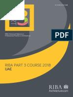 RIBA Part 3 Application Form 2018 UAE