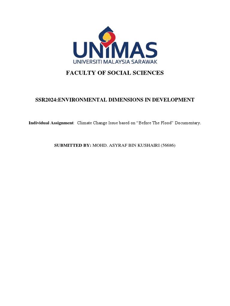 Climate Change Mohd Asyraf Kushairi Universiti Malaysia Sarawak