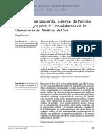 Borsani--Gobiernos de Izquierda, Sistema de Partidos y Los Desafios Para La Consolidaciond e La Democracia