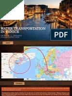 Water Transportation in Venice