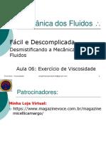 #6 Exercício Viscosidade - Mecanica dos fluidos .pdf