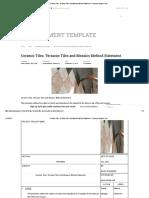 Ceramic Tiles, Terrazzo Tiles and Mosaics Method Statement