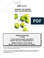 C8017 Health Psychology Module Handbook 2017-18 Checked by Office