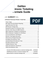 Electronic Ticketing Formats Guide