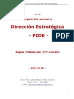 PIDE Posgrado Internacional en Dirección Estrategica - Feb 2018