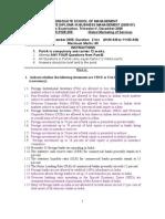 Global Services- End-Term Question Paper-1