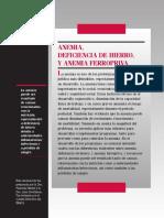 Anemia, Deficiencia de Hierro y Anemia Ferropriva