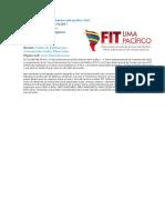 FIT Lima Pacífico Feria Turismo Del Pacífico 2017.