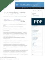 Dr. Budwig Protocol – Romanian Language (Limba Romana) - Much Healthier