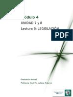 M4 Lectura 5 - Legislación y Comercialización
