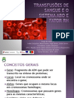 Transfusoes de Sangue e Sistema ABO e Rh