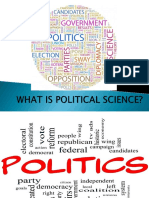 Pgc 1st Ppt What is Political Science 2013 Short