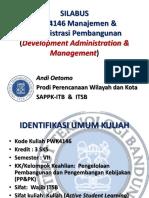 SILABUS PWK4146 Manajemen & Adm Pembangunan