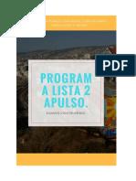 Programa Apulso 2018 Lista 2