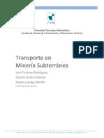 Transporte en minería subterránea