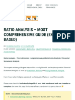 Ratio Analysis - Most Comprehensive Guide (Excel Based)