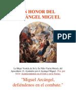En Honor Del Arcángel Miguel