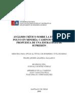 Análisis crítico sobre la emisión de polvo en minería, caminos mineros y propuesta de una estrategia