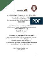 Convocatoria Congreso Quito 2016