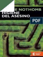 Higiene Del Asesino - Amelie Nothomb