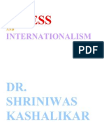 Stress and Internationalism Dr. Shriniwas Kashalikar