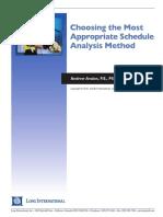 Long Intl Choosing the Most Appropriate Schedule Analysis Method