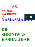 Stress Animal Sacrifice and Namasmaran Dr. Shriniwas Kashalikar