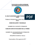 Multilinguismo en Ekl Peru Monografico Apa Modelo Pedagogico