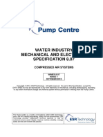 Pump Centre - Water and Industry Mechanical Electrical Specification 8.07 - MB