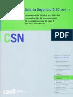 GS 05-10 Revisión 1 - Documentación Técnica Para Solicitar La Autorización de Funciomiento de Las Instalaciones de Rayos X Con Fines Industriales