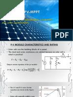 A Study of Pv-mppt Algorithms