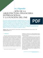 La Evolución de La Arquitectura Financiera Internacional y Función FMI_Rato