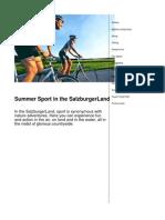 Summer Sport in the SalzburgerLand en