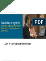 Cisco IT Case Study Acquisition Integration Presentation