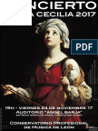 Concierto de Santa Cecilia 2017 - Conservatorio de León