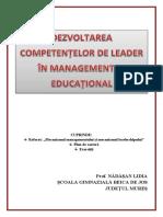 Dezvoltarea competentelor de leader in educatie