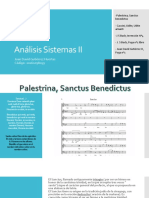 Palestrin, Sactus Benedictus