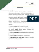 Monografia Sobre Organizaciones Sociales