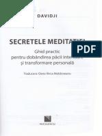Secretele Meditatiei - Davidji