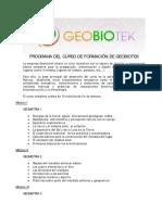 Programa de Formación Geobiotek