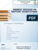 Comment Rédiger Un Rapport Scientifique